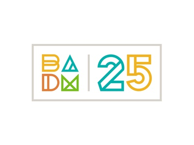 Bay Area Discovery Museum Logo - 25th Anniversary lockup bay area museum color logo kids discovery children brand blocks