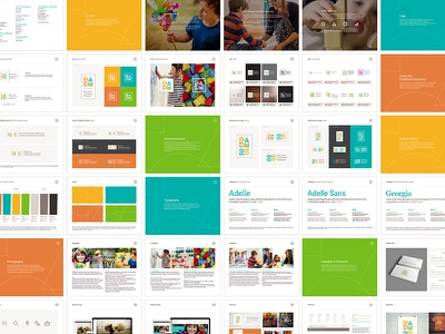 Bay Area Discovery Museum Brand Book branding book children icons ui logo brand museum discovery kids bay area