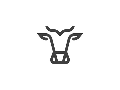 Cow #2 icon bull blue logo cow