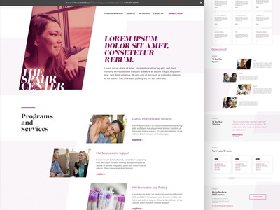 The Spahr Center - homepage concept web uix ui typography site navigation nature design lgbtq