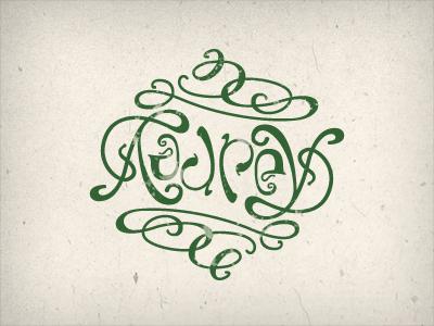 Ambigram ambigram hand-lettered