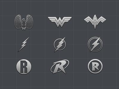 Superhero logo icon set - Part 2