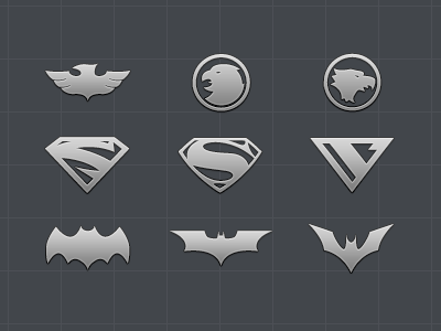 Superhero Logo Icon Set