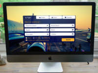 "Daily UI #05 -  Web Booking Travel ""Free download"""
