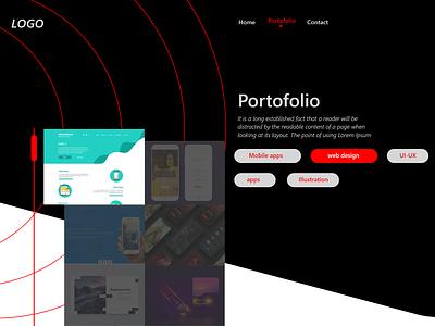 Daily UI #07 - Portfolio bio design photoshop adobe xd ui portfolio