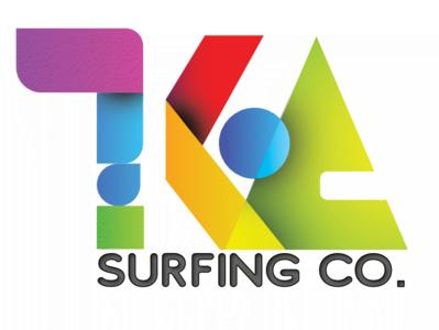 KOA Surfing Co. art direction design branding logo orange purple green blue red colorful design multi color