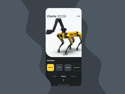 App for your robot smart drones robot dog bostondynamics mobile ui mobile design mobile app design mobile app design ux ui mobile iphone ios apple
