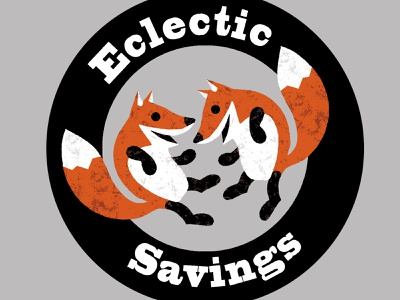 Eclectic Savings Logo branding logo wildlife fox drawing illustration