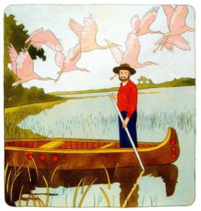 On The Verge vintage illustration wnc magazine boat birds swamp florida
