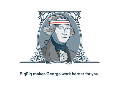 Putting George to work.
