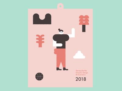 Free Calendar 2018 winter summer seasons graphic design stereoplastika freedownload calendar