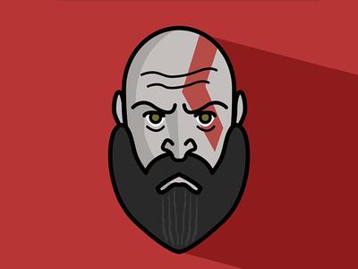 Kratos Flat Illustration