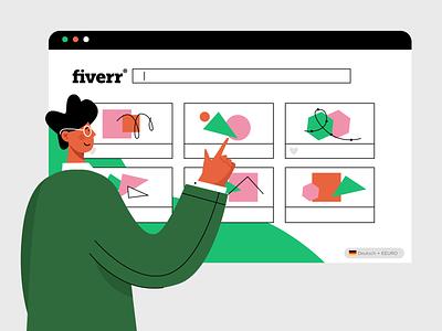 for fiverr vector icon logo ui animation app web people illustration design