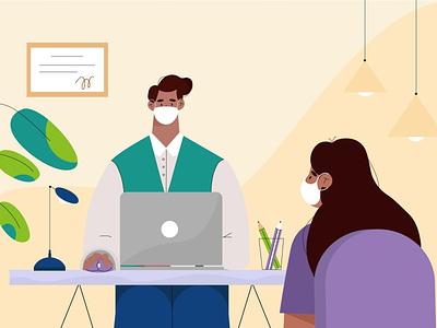Student web people flat design vector illustration