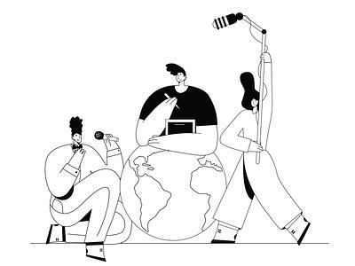 musicians music musicians web flat holiday people illustration design