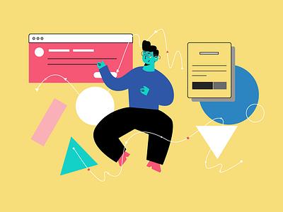 for web web branding app vector flat illustration design