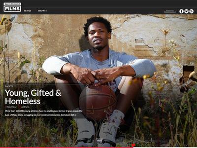 Sports Illustrated Films Web Design
