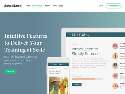 SchoolKeep Website Re-Design