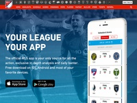 Major League Soccer: Mobile App Marketing Page