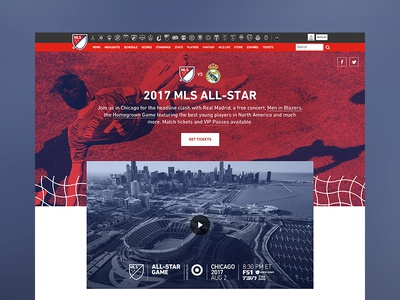 MLS All-Star landing page