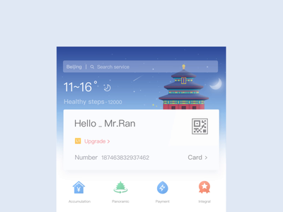 Multiple Weather Animations ui ux ux temperature card sundial moon clean sky meteor night lightning thunderstorm sunlight material ui design animation gif the weather