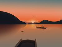 《Lugu Lake》 illustration