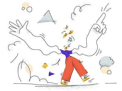 Illustration notes singing saintpetersburg shadows vivid flat person illustration