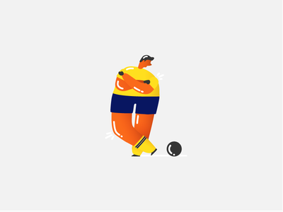 A Soccer Player people person sport saintpetersburg vivid bright illustration player football soccer