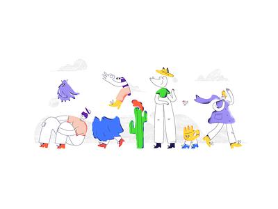 You're quite a character! art digitalart вектор иллюстрация russia saintpetersburg clean shadow noise bright character colors web vivid shades flat vector design illustration