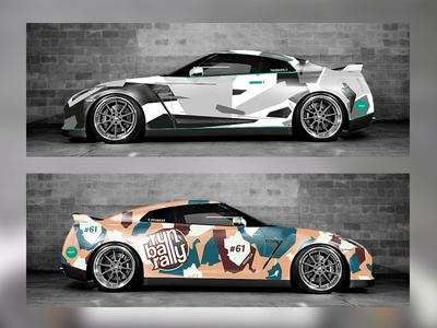 Car wrap Nissan GTR
