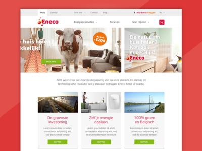 Eneco Homepagina facelift