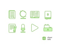 "Icon set for ""clever talk""                  1"