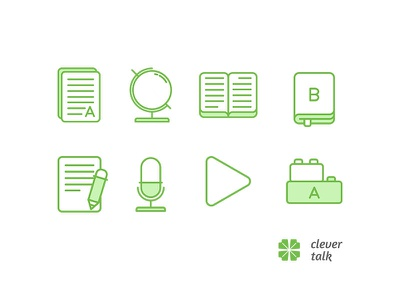 """Icon set for """"clever talk""""                  1"""
