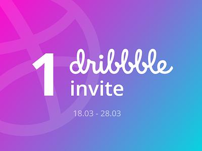 1 Dribbble Invite invite design player giveaway invite giveaway member invite design dribbble invite dribbble