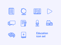 Education Icon Set Preview