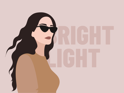 Brightl ight nature pink picture ilustration vector woman