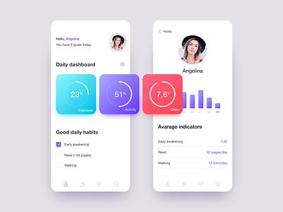 Activity app goal active mobile app app uidesign ui design dribbble
