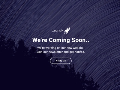 (Free Download) Launch Coming Soon HTML Template construction under bootstrap design web css html5 soon coming templates template html