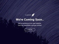 (Free Download) Launch Coming Soon HTML Template