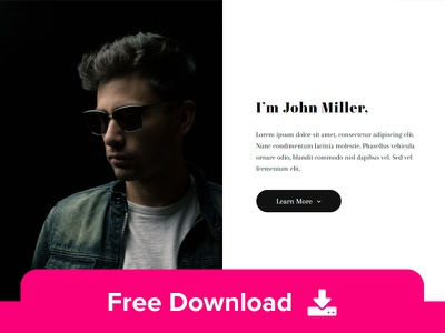 Miller - Free Identity HTML Template html template templates html5 css web design layout resume identity