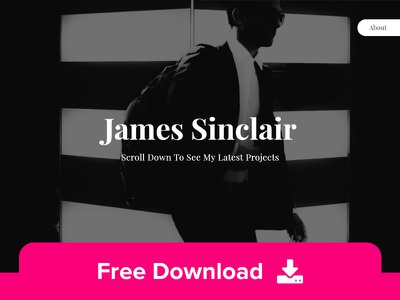 Sinclair - Free Personal Portfolio HTML Template work personal portfolio layout design web css html5 templates template html
