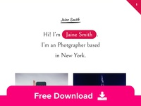 Jaine- Free Personal Portfolio HTML Template