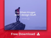 Ethan - Free Personal Portfolio / Identity HTML Template