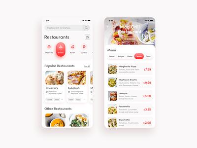 Food Delivery app creative design uiux ui minimal design best app design uiux design food and drink app design 2020 android app design ios app design mobile design restuarant food delivery food app
