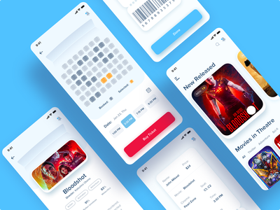 Movie Ticket Booking App mobile product design illustration minimal design creative app design user interface design app design ticket booking app movie app ios app design android app design user interface