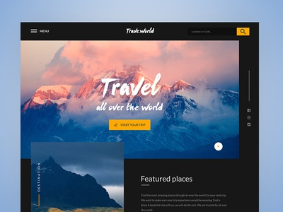 Trave.world Landing page