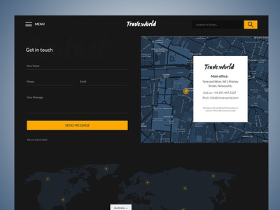 Trave.world Contact Page