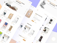 Coffee shop product pages