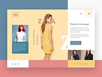 Fashion header UI