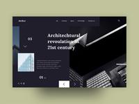 Arch.e header UI concept